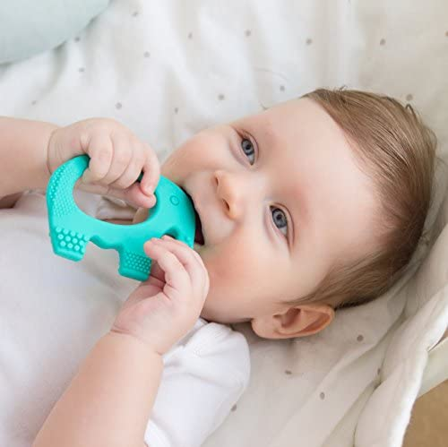 51QhhrMmohL. AC - Baby Teething Toys - BPA Free Silicone Toy - Cute, Easy To Hold, Soft And Highly Effective Elephant Teether - Unique Teethers Best For 0-6 6-12 Months Boy Or Girl Christmas Gifts Stocking Stuffers