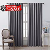 grey curtains for bedroom. Blackout Curtain Panels Window Draperies  Grey Color 52x84 Inch 2 Pieces Insulating Room Darkening Drapes for Bedroom by NICETOWN Amazon com Curtains Treatments Home