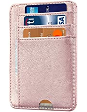 HOTCOOL Front Pocket Minimalist Leather with RFID Blocking Card Holder Wallet for Men & Women,Mint Green