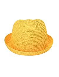 Shuohu Sombrero de Verano para Playa con Orejas de Gato, Color sólido, para niños