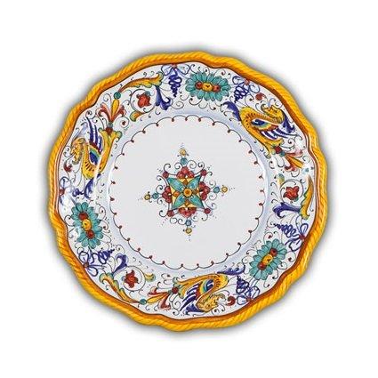 Deruta Raffaellesco Fluted Salad Plate