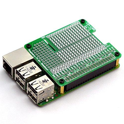 Breadboard DIY. A+ Electronics-Salon 4x Prototype Breakout PCB Shield Board Kit para Raspberry Pi 3 2 B