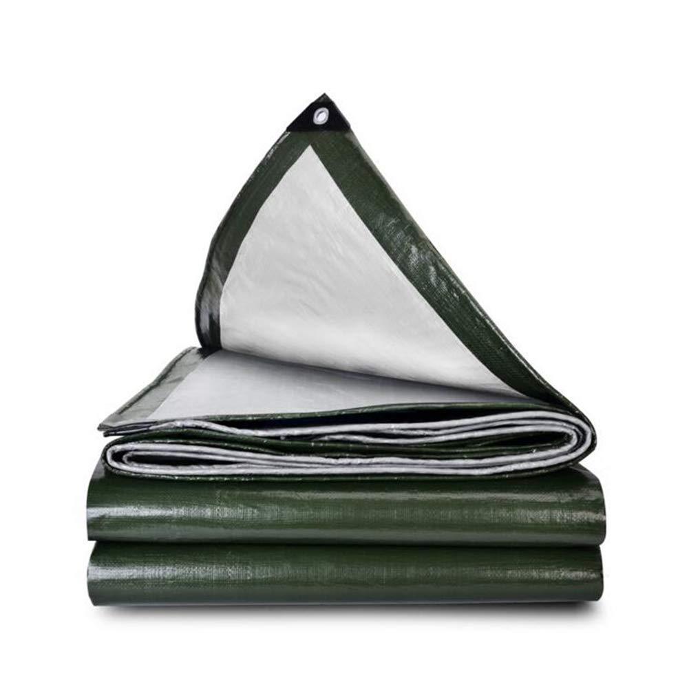 DALL ターポリン 防水タフ ヘビーデューティー 引き裂き抵抗 グランドシート カバー 折りたたみ可能 (色 : Green, サイズ さいず : 8*10m) 8*10m Green B07KQTC22P