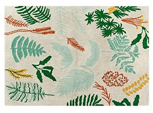 Lorena Canals Botanic Plants, Green, Orange, 4' 7'' x 6' 7'' Canal Tropical Rug