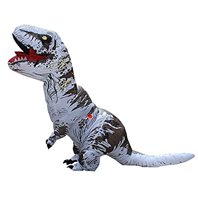 BIGPETS Inflatable Adult Dinosaur Costume T-Rex Cosplay Suit Fancy Dress Halloween (Brown)