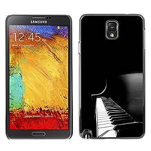 Paccase / SLIM PC / Aliminium Casa Carcasa Funda Case Cover para - Popular Piano Keys Black White Music Instrument - Samsung Note 3 N9000 N9002 N9005
