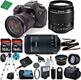Cheap Canon EOS 7D Mark II with 18-55mm IS STM + 55-250mm IS STM + 2pcs 16GB Memory + Case + Memory Reader + Tripod + ZeeTech Starter Set + Wide Angle + Telephoto + Flash + Filter