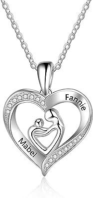 collier argent femme avec coeur