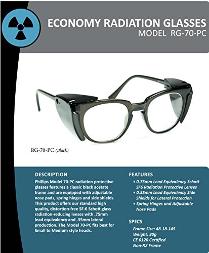 Radiation Safety Glasses in a Titmus Frame with .75 Pb Lead Lens by Phillips Safety (Image #1)