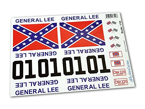 GENERAL LEE RC Car 1/10 10th Scale Duke of Hazzard Decals Stickers Full Kit Set Already Cut