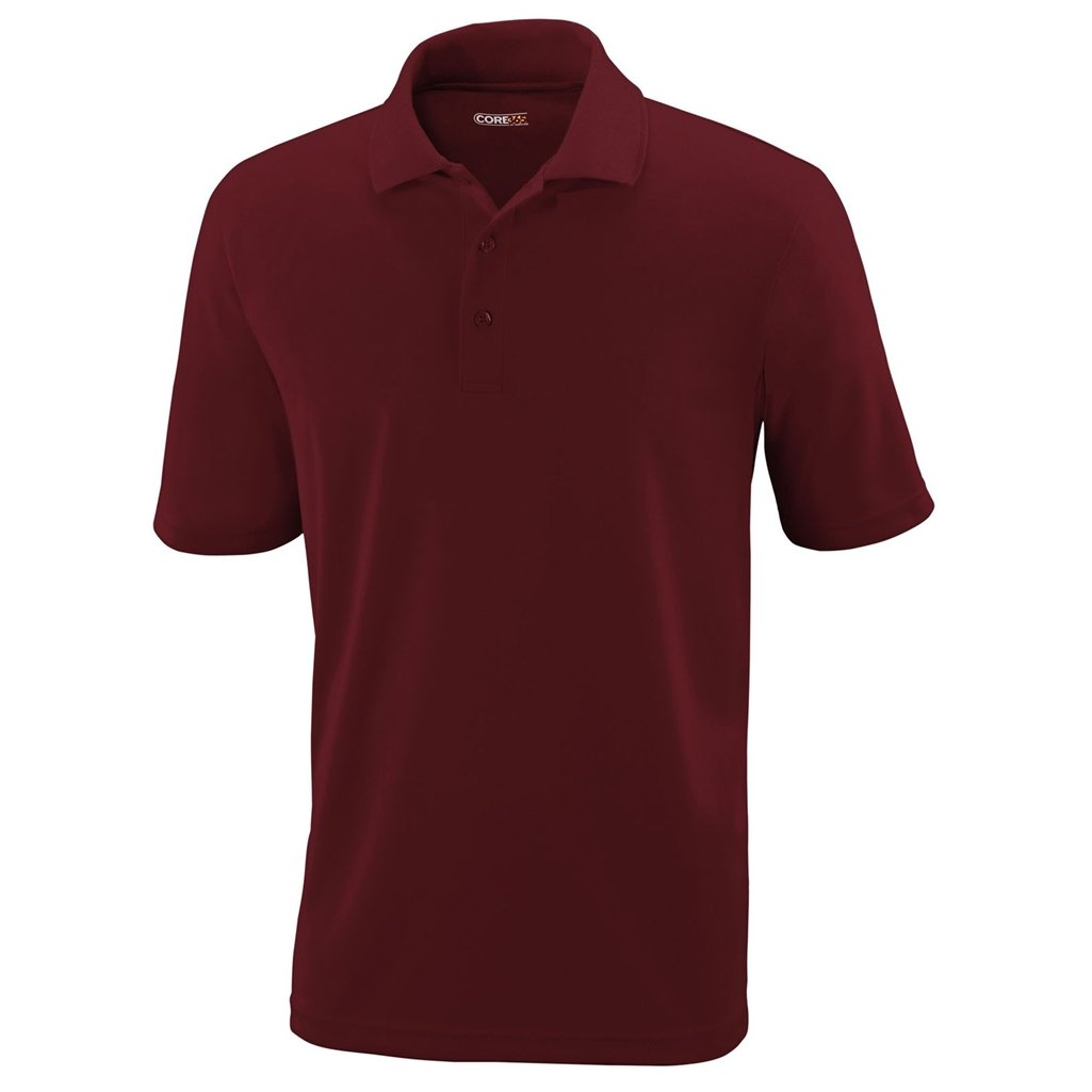 Ash City Mens Origin Polo Performance Shirt (XXX-Large, Burgundy) by Ash City Apparel