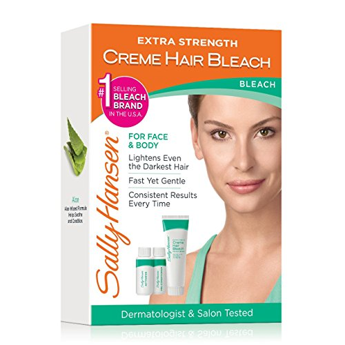 Sally Hansen Extra Strength Creme Bleach, Complete Kit (Best Facial Hair Bleach For Sensitive Skin)