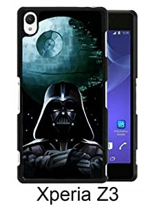 Xperia Z3 Phone Case,Star Wars Darth Vade Black Pattern Cool Design Sony Xperia Z3 Cover Case