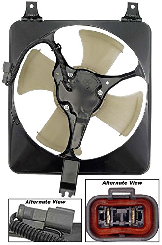 APDTY 731312 AC Condenser Cooling Fan Blade Motor Shroud Assembly Fits 94-98 Honda Accord 2.2L Engine, 97-98 Honda Prelude, 1997 Acura CL 2.2L Engine (Replaces 38605PC0G01, 38615P5M000, 38616PT2J03) ()