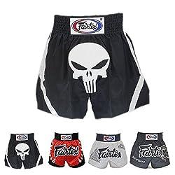Fairtex Muay Thai Boxing Shorts Red Black White Size S M L XL XXL (3L) by Fairtex