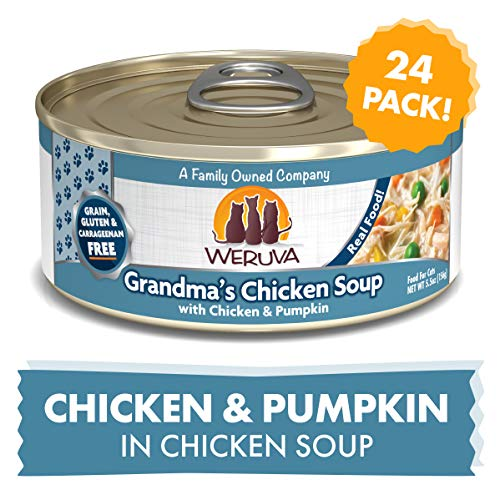 Weruva Classic Cat Food, Grandma?S Chicken Soup With Chicken Breast & Veggies, 5.5Oz Can (Pack Of 24) (Chicken Soup For The Soul Cat Food Reviews)