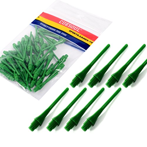 CUESOUL 2BA Soft Tip Dart Points 100-Count (CSSTP008 - Green)