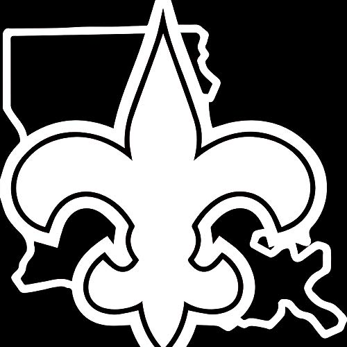 New Orleans Saints Greats (White) (Set of 2) Premium Waterproof Vinyl Decal Stickers for Laptop Phone Accessory Helmet Car Window Bumper Mug Tuber Cup Door Wall Decoration