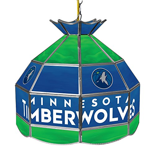 NBA Minnesota Timberwolves Tiffany Gameroom Lamp, 16'' by Trademark Gameroom