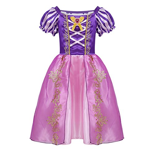 Baby Fairy Tale Costumes (Alvivi Baby Girls Princess Fairy Tale Dress Up Costumes Halloween Cosplay Role Play Party Outfits Purple 18-24)