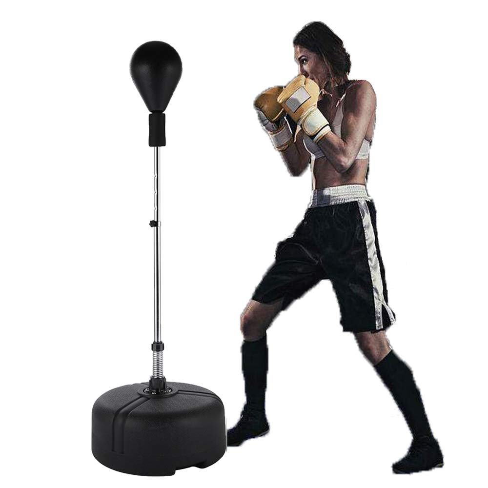 Yiilove Free Standing Punching Bag Speed Ball Reflex Boxing Bag Adjustable Height for Adults & Teenagers (Black.) by Yiilove