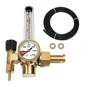 Interstate Pneumatics WRFCO2 CO2 Single Stage regulator with Flow Meter CGA 320 Inlet