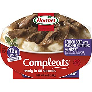 Hormel Compleats Tender Beef with Mashed Potatoes and Gravy (Pack of 6)