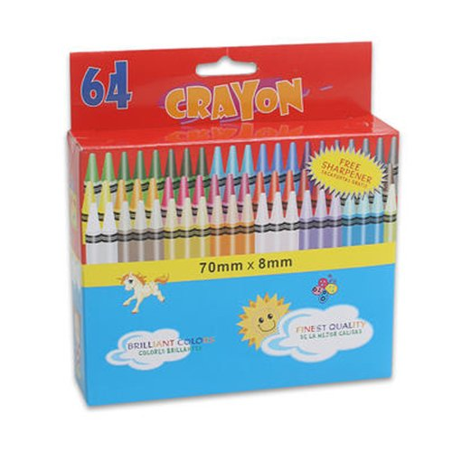Crayon (64-pack) avec taille-crayon SweetHomeStore