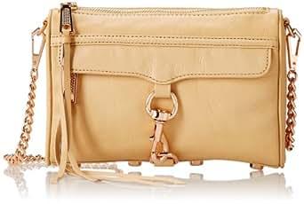 Rebecca Minkoff Mini MAC Convertible Cross-Body Handbag,Biscuit,One Size