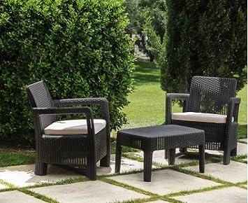 VDC Conjunto Balcón: Set de 2 sillones + mesita 100% Outdoor ...
