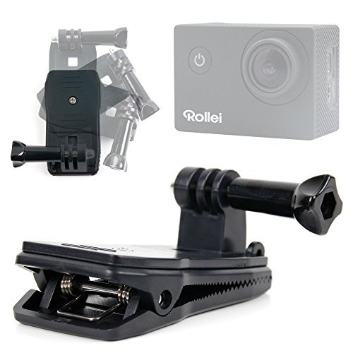 DURAGADGET Durable Quick-Clip Jaw Clamp Mount with Straight Bolt Screw Connector Compatible with the Rollei Actioncam 300 | 400 | 410 | 420 Action Cameras