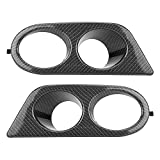 Qiilu Pair of Carbon Fiber Texture Front Bumper Fog Light Trims Air Duct Covers for BMW E46 M3 01-06
