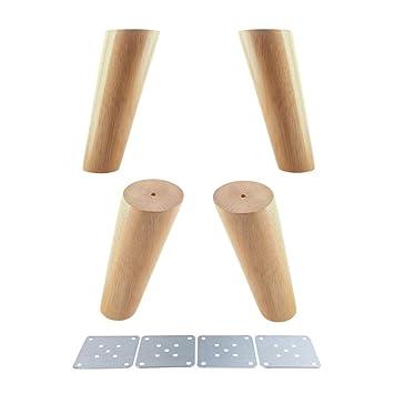 Glvanc Möbelbeine Eiche Zuverlässiges Produkt Mit Eisenplatten