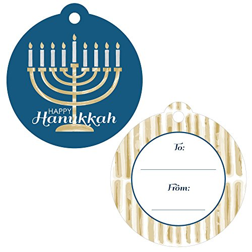 Happy Hanukkah - Chanukah Favor Gift Tags - Set of 20 Chanukah Favor