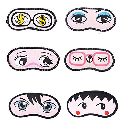 Flyusa 2 Pcs Cute Cartoon Sleeping Eye Face Mask Cover Funny
