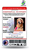 XpressID Holographic Emotional Support Dog ID Card (Custom) Includes Registration To National Dog Registry
