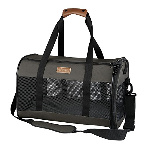 (Akinerri Airline Approved Pet Carriers,Collapsible Soft Sided Pet Travel Carrier for Dogs and Cats)