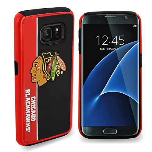 "Price comparison product image Forever Collectibles Chicago Blackhawks Samsung Galaxy S8 Bold Dual Hybrid TPU Cover - 5.8"" Screen ONLY"