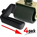 iPrimio Black Bed and Furniture Stopper - Requires No Lifting of Your Bed - It Works - Caster Cups, Keeps Bed and Furniture From Sliding, Bed Caster Stopper. Solid Rubber. Black Color
