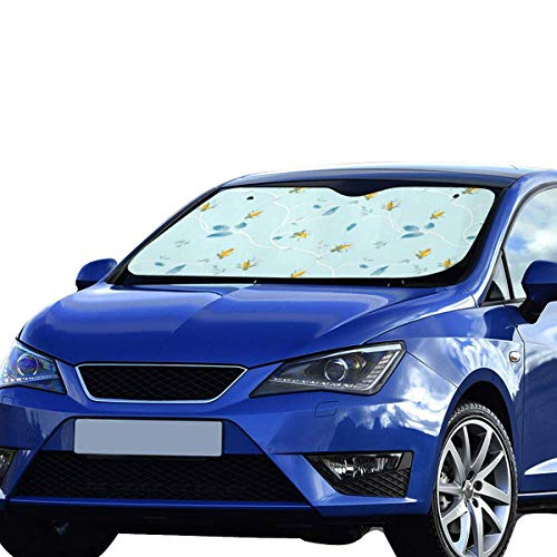 - Car Windshield Sun Shade Rosebuds and Leaves UV Rays Sun Visor Protector Sunshade Auto Sun Shade to Keep Your Vehicle Cool and Damage Free Easy to Use 55 X 29.53 Inches