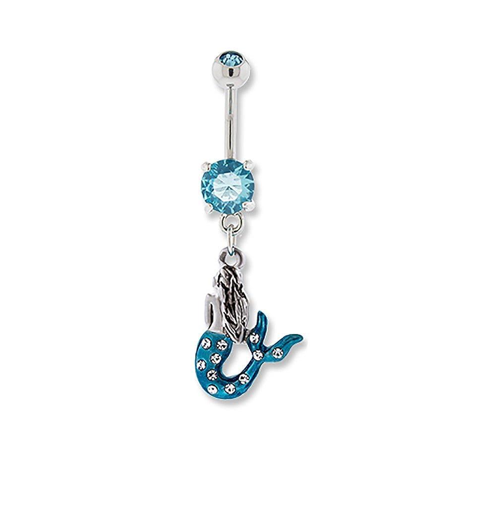 Mermaid Dangle Belly Navel Ring Body Jewelry