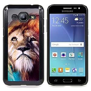 SKCASE Center / Funda Carcasa protectora - Pintura Majestic Lion;;;;;;;; - Samsung Galaxy J2 / J200