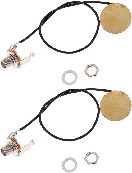 B Baosity Transductor Piezoeléctrico De 2 Piezas Para Guitarra Acústica: Amazon.es: Instrumentos musicales