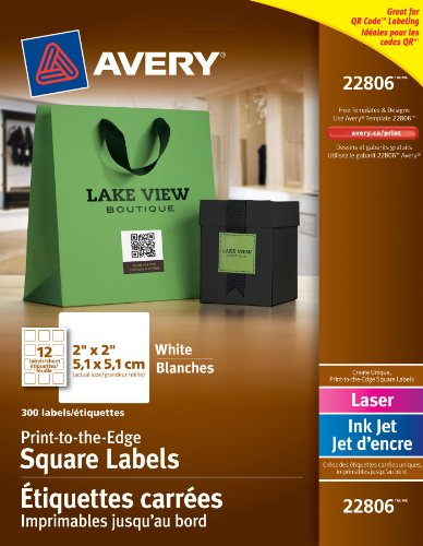 AVE22806 - Avery Print-to-The-Edge Easy Peel Labels with - Peel Easy White