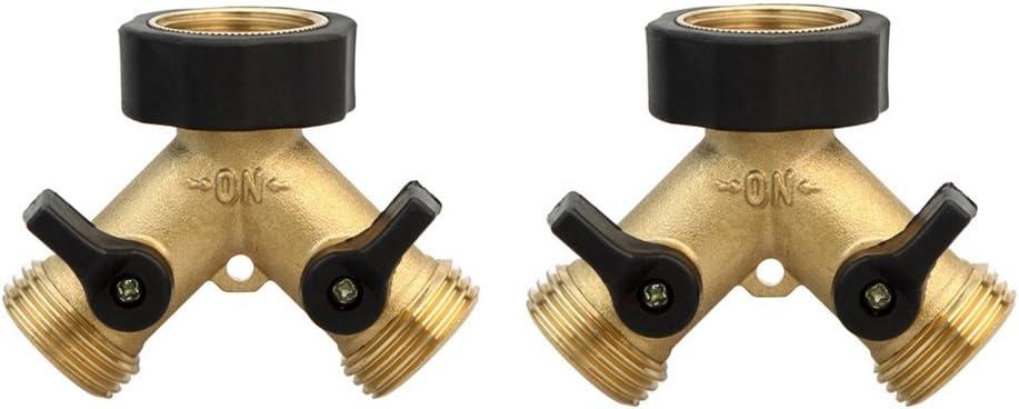 Twinkle Star Garden Hose Splitter 2 Way Renewed Y Connector Brass Garden Hose Adapter