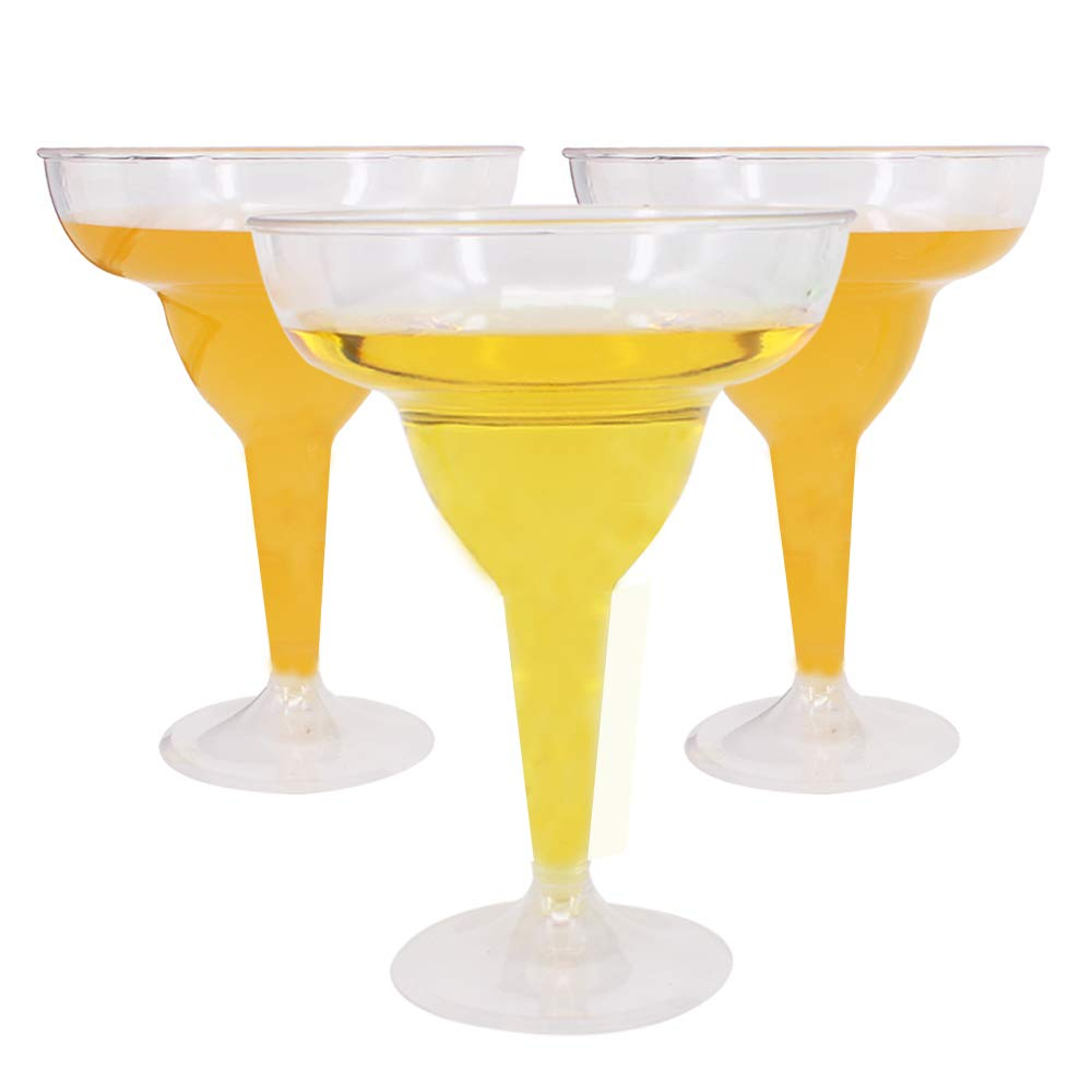 Benail 18 Pack 11oz Clear Hard Plastic Margarita Glasses/Party Cups Wedding Parties Cocktail Cups