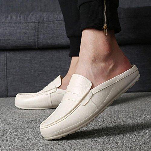 Elevin (tm) Heren Zomer Mode Outdoor Plastic Lui Half Slipper Sandalen Moccasin Schoenen Beige