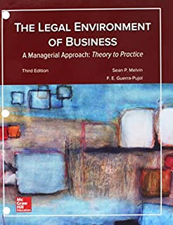 Loose Leaf for Legal Environment of Business, a Managerial Approach: Theory to Practice (1260152871) | Amazon price tracker / tracking, Amazon price history charts, Amazon price watches, Amazon price drop alerts