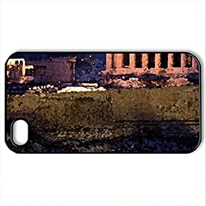the wonderful acropolis in athens - Case Cover for iPhone 4 and 4s (Ancient Series, Watercolor style, Black)