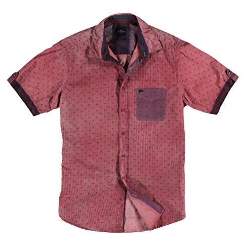 engbers Herren Hemd kurzarm, 23359, Rot